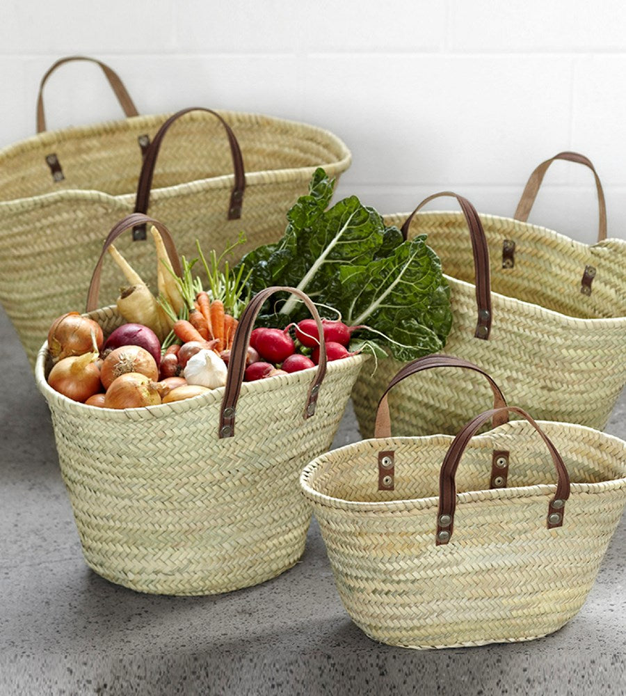 The Orleanais | French Market Basket with Flat Handle | Extra Small