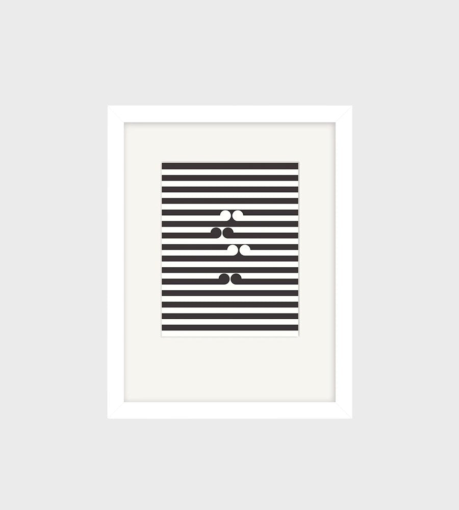 Gordon Walters | Untitled-No.1 Small Art Print | Framed | White