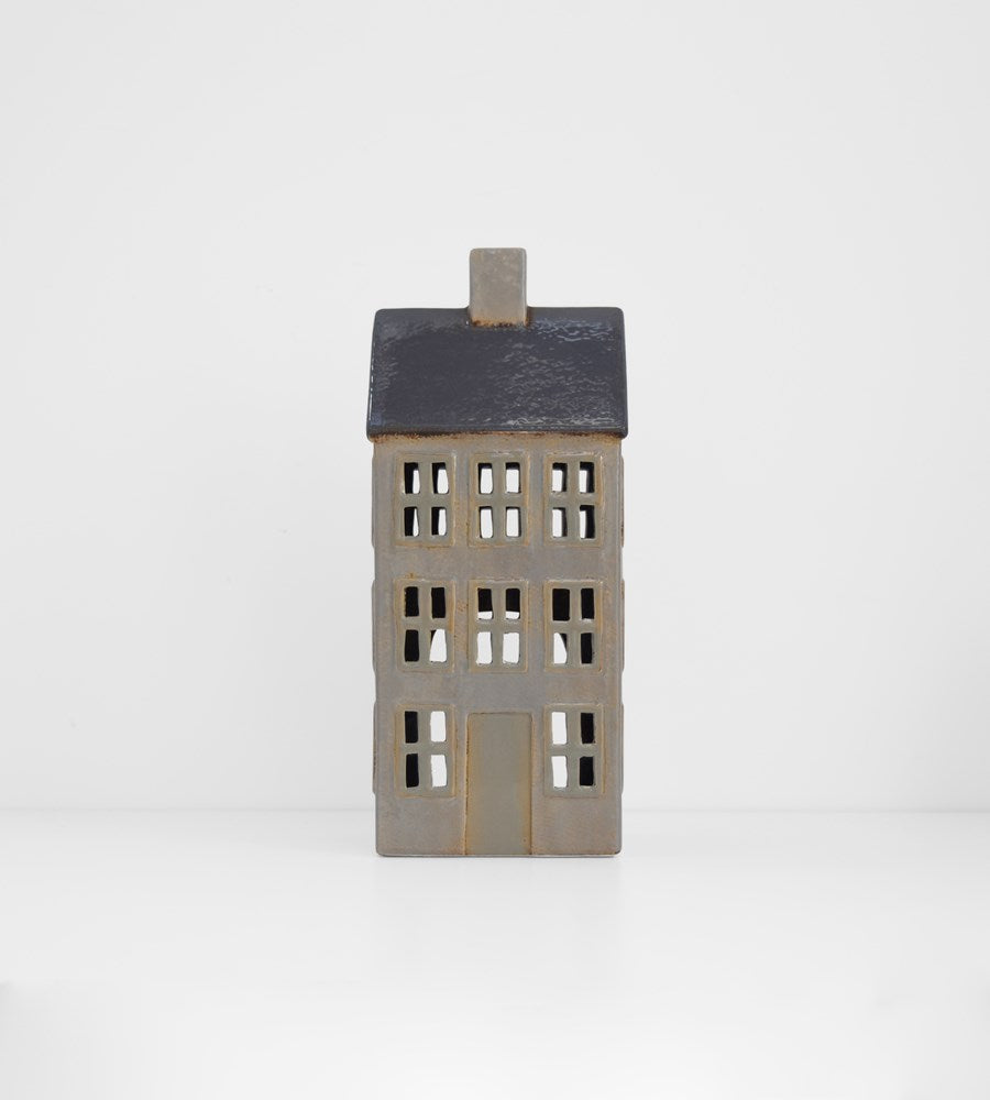 Grand Chalet Tea Light House | Grey