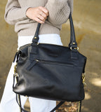 Harry & Co. | Jackie Bag | Diamond Leather | Black