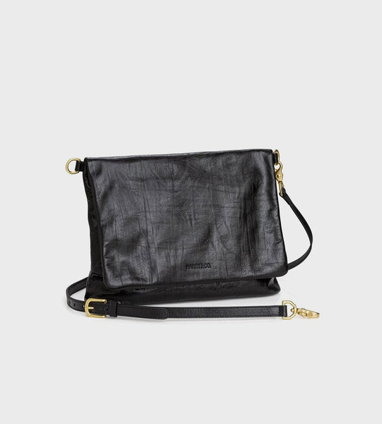 Harry & Co. | Baxter Bag | Black Crackle Leather