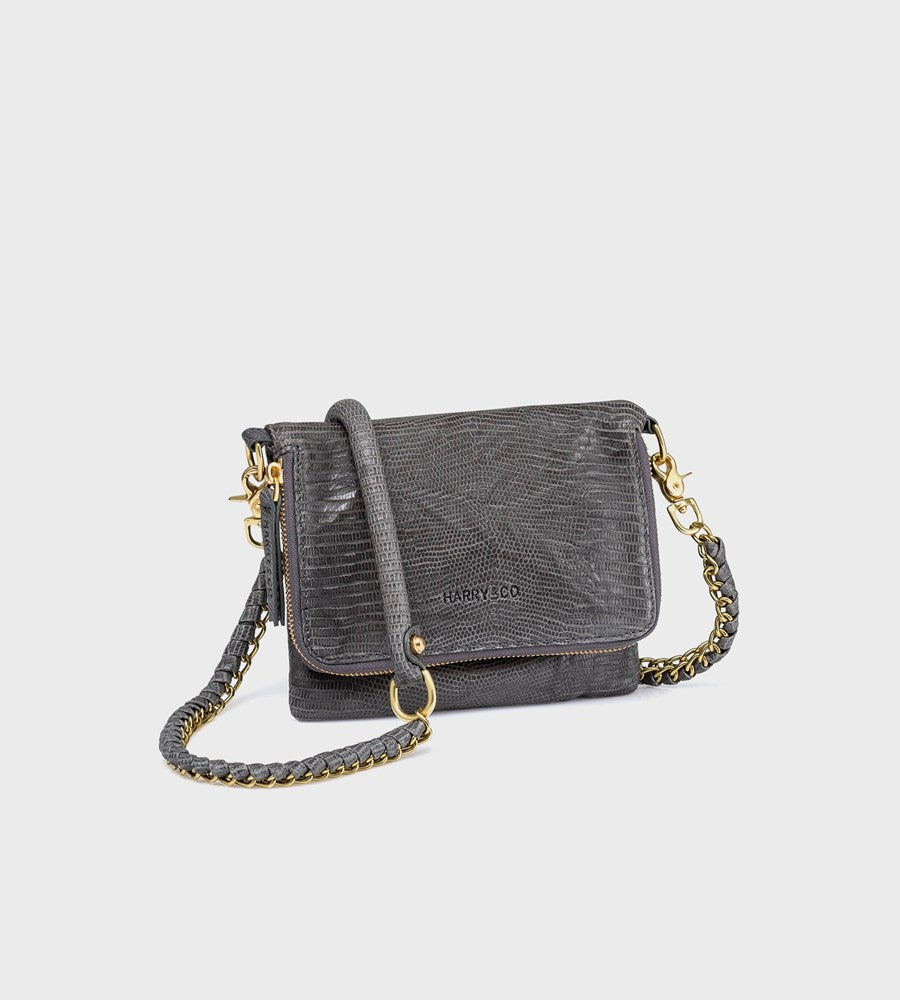 Harry & Co. | Bobi Bag | Grey Emboss