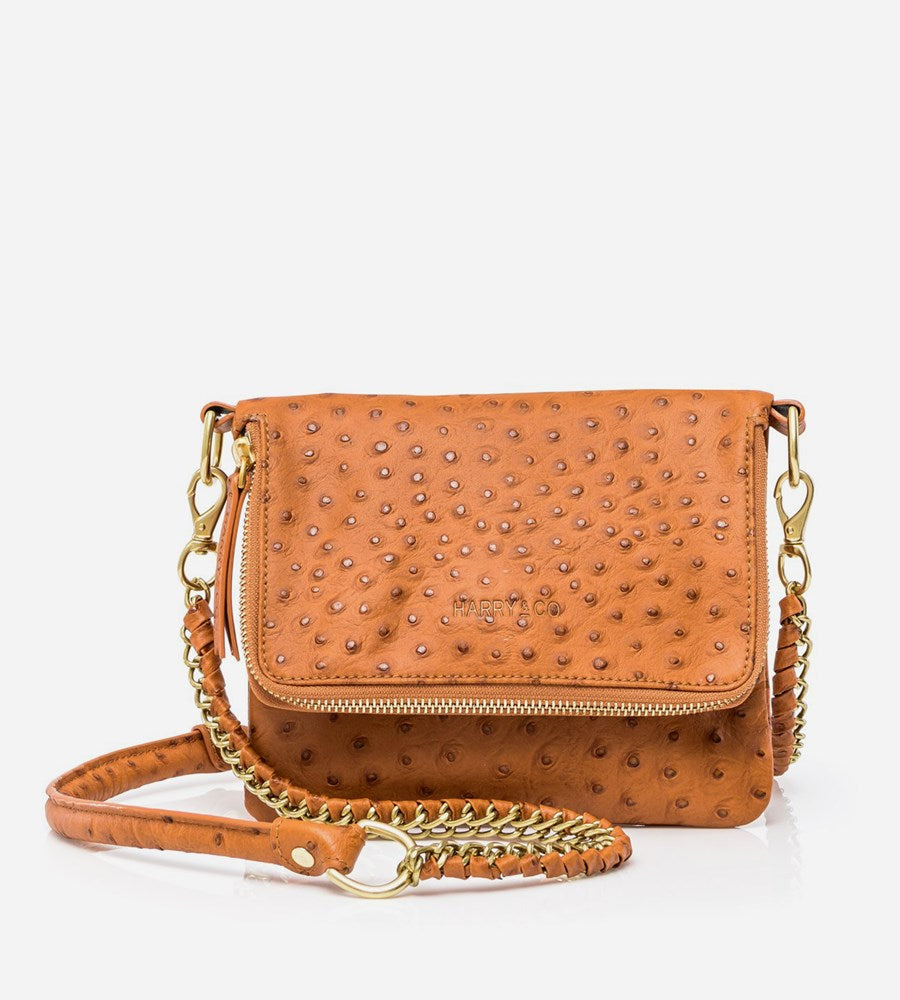 Harry & Co. | Bobi Bag | Tan Ostrich