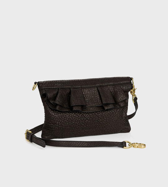 Harry & Co. | Claude Bag | Black Bubble Leather