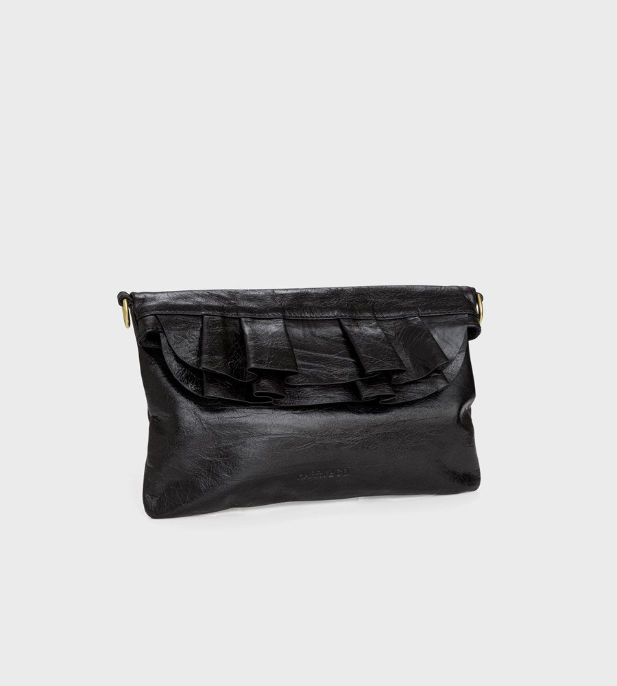 Harry & Co. | Claude Bag | Black Crackle Leather