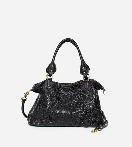 Harry & Co. | Frankie Mini Bag | Bubble Leather | Black