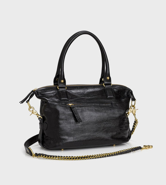Harry & Co. | Mini Jackie Bag | Black Crackle Leather
