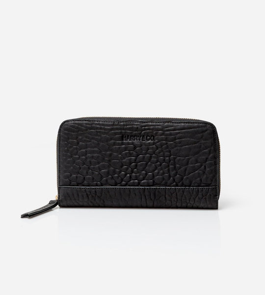 Harry & Co. | Pablo Wallet | Bubble Leather | Black