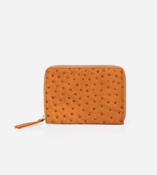 Harry & Co. | Travel Holder | Tan Ostrich