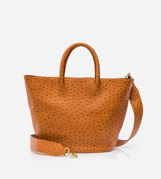 Harry & Co. | Victoria Bag | Tan Ostrich