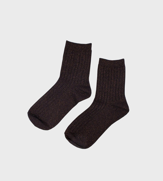 Le Bon Shoppe | Her Socks Lurex | Copper Black