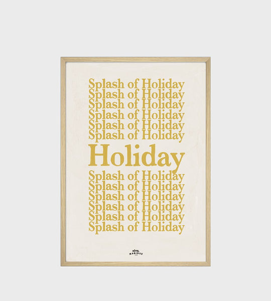 Hotel Magique | A Splash of Holiday Framed Print | A3