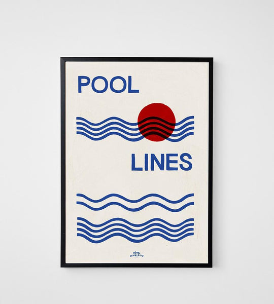 Hotel Magique | Pool Lines Unframed Print | A3