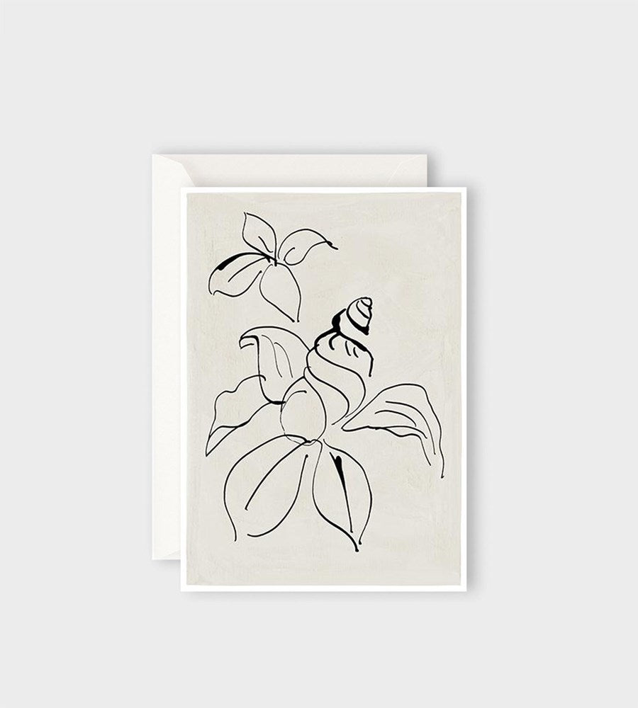 Hotel Magique | Shell Flower Card