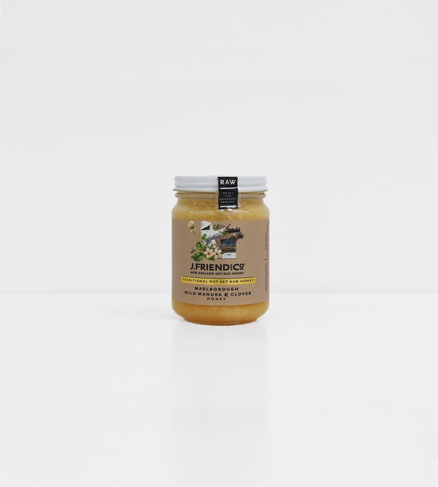 J. Friend & Co. | Marlborough Mild Manuka Honey & Clover Honey Pot Set