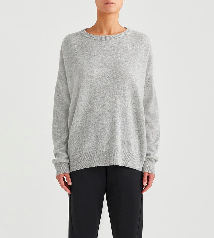 Jac+Jack | Cliff Sweater | Pale Grey Marle
