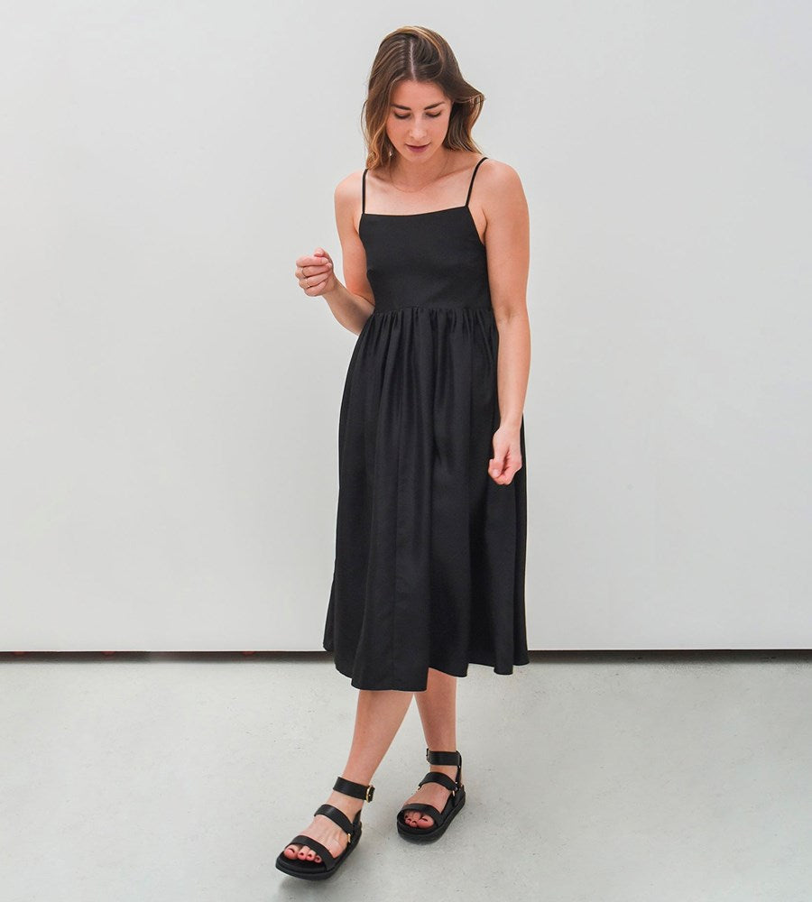 Jac+Jack | Kiah Silk Dress | Black
