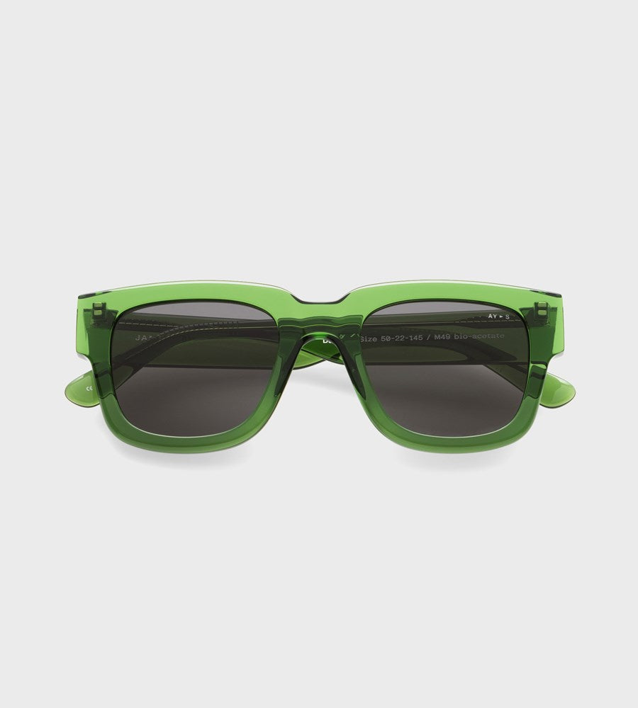 James Ay | Dandy Sunglasses | Transparent Green