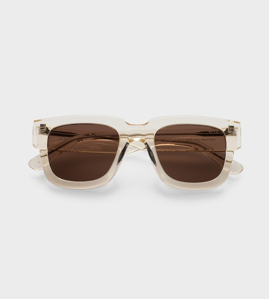 James Ay | Dandy Sunglasses | Transparent Yellow
