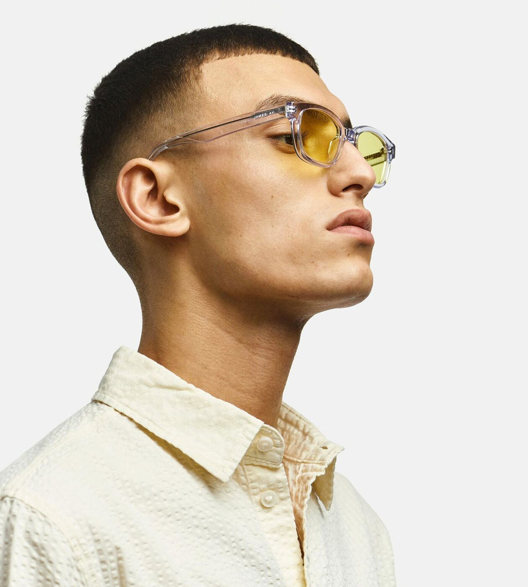 James Ay | Fjordland Sunglasses | Clear Crystal