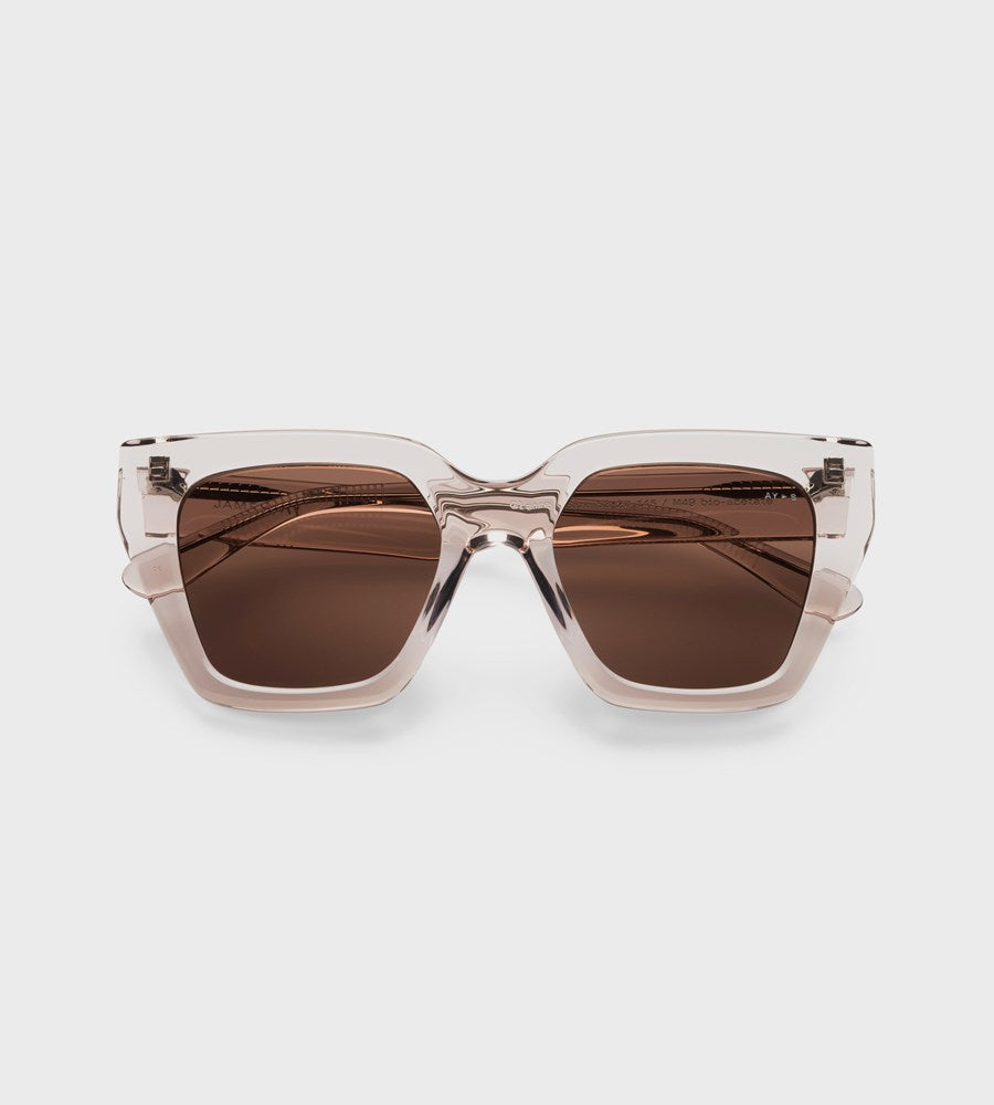 James Ay | Glance Sunglasses | Transparent Sand
