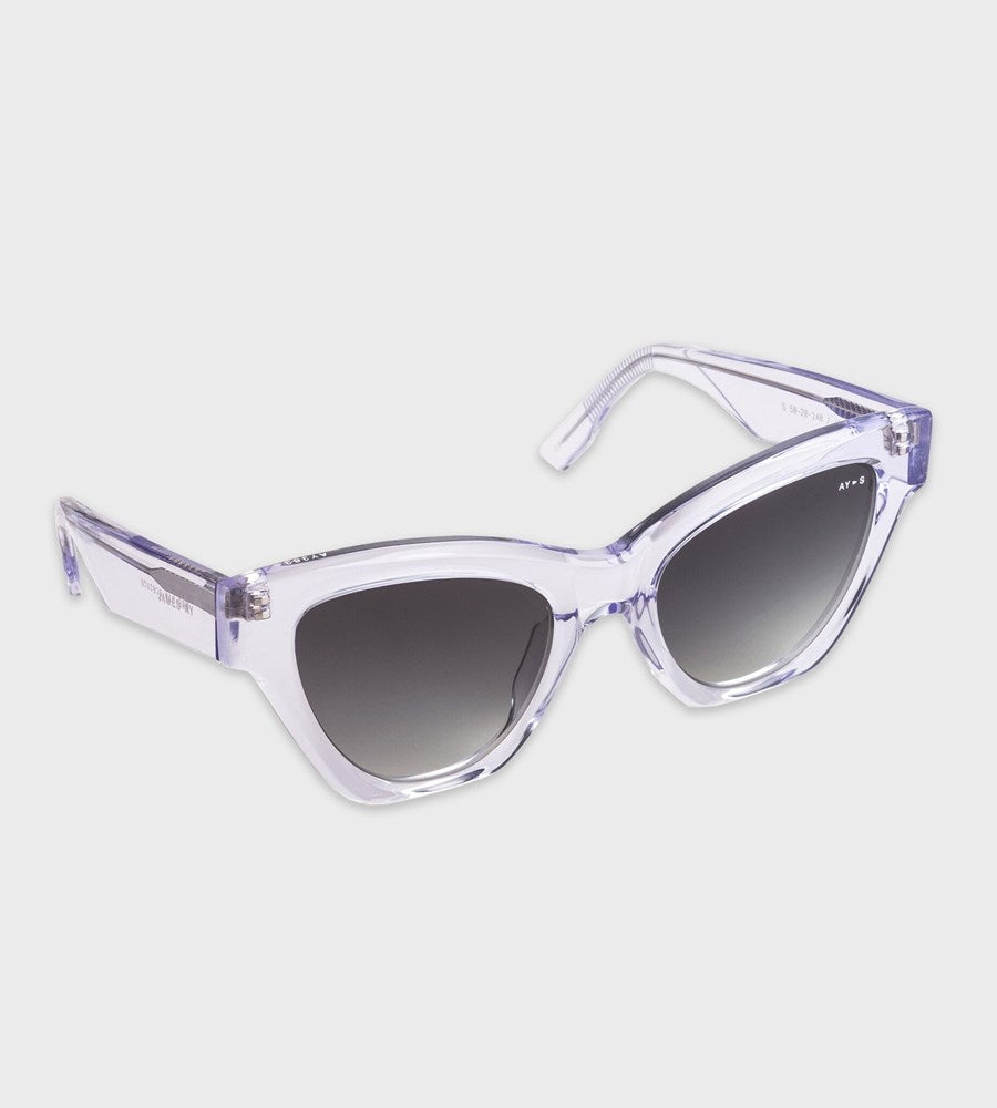 James Ay | Malibu Sunglasses | Clear Crystal