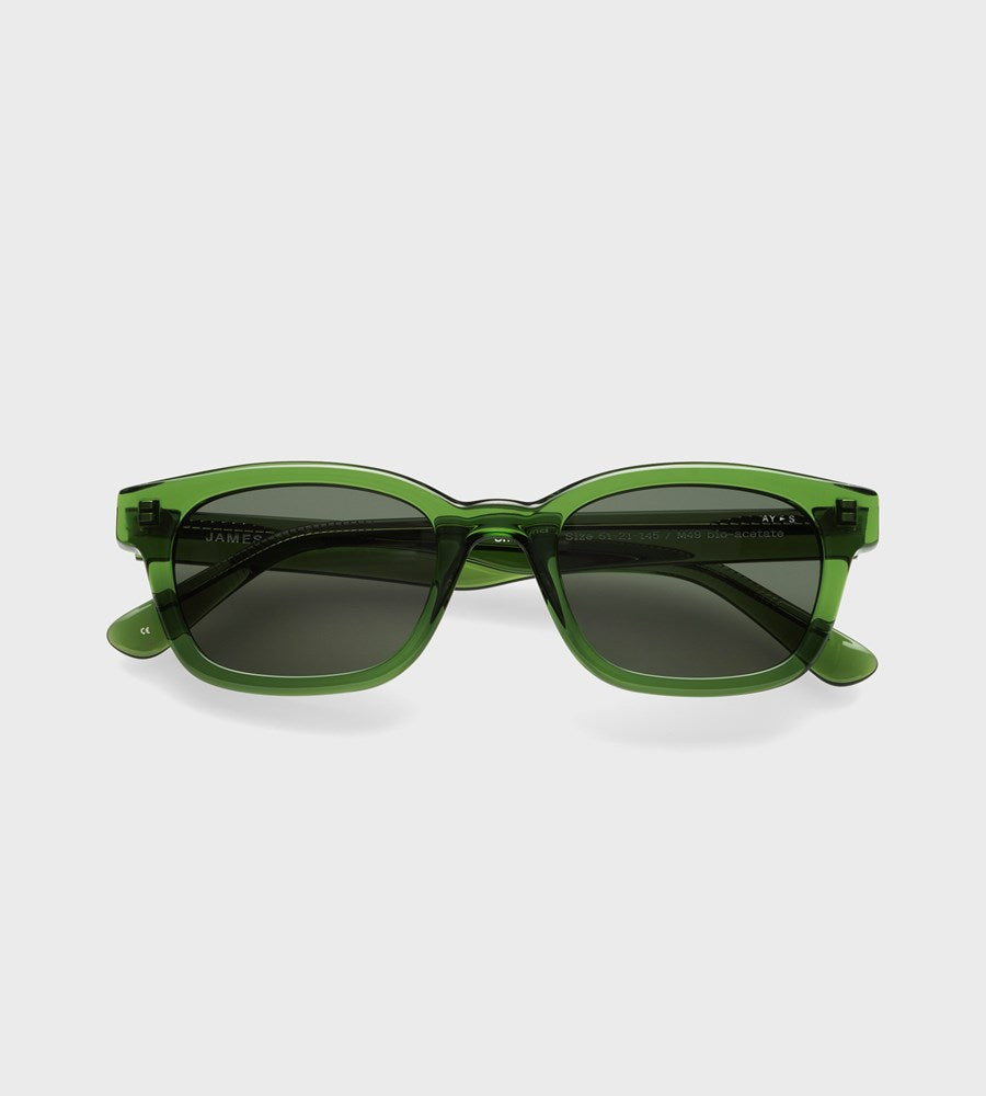James Ay | Unbound Sunglasses | Transparent Green
