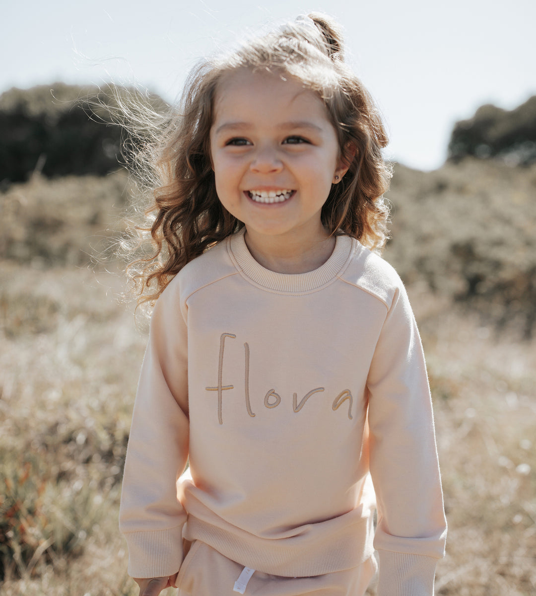 Jamie Kay | Flora Sweatshirt | Honey Peach