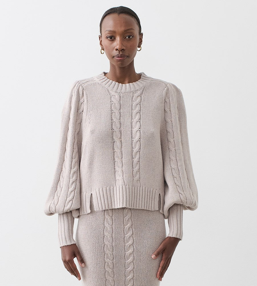 Joslin | Hadley Wool Cotton Knit | Marble Marle
