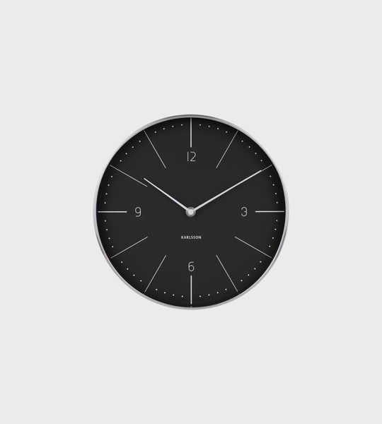 Karlsson | Normann Wall Clock | Black