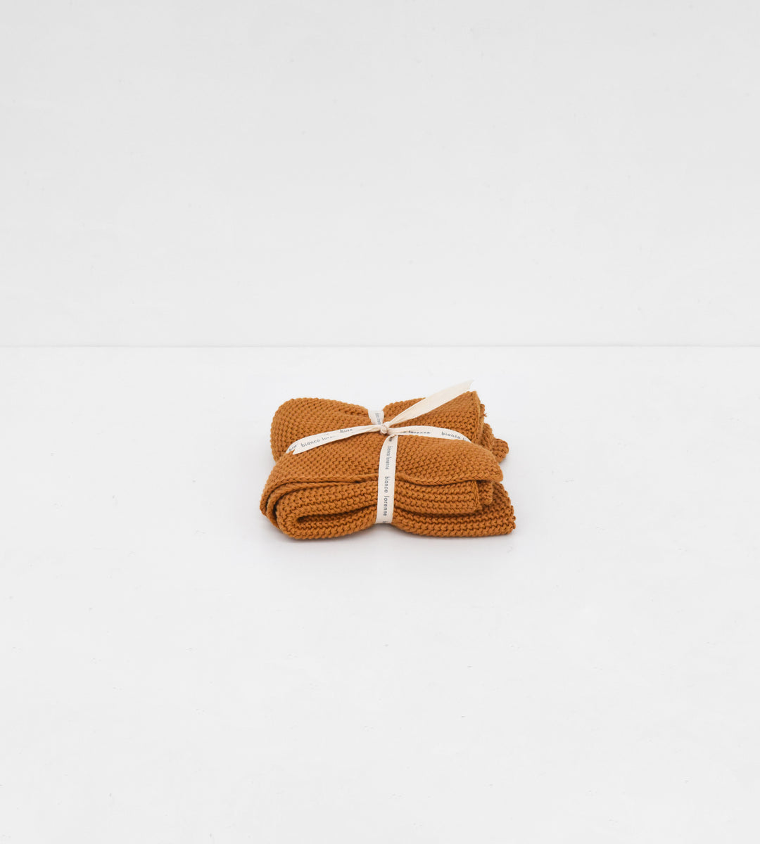 Knitted Hand Towel | Ochre