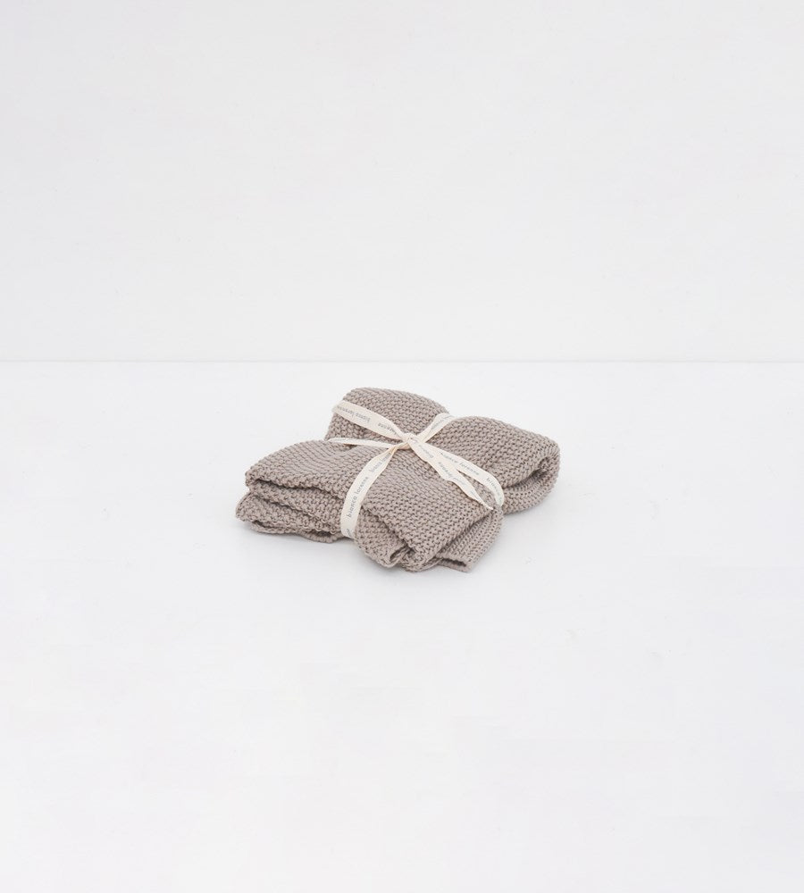 Knitted Hand Towel | Taupe
