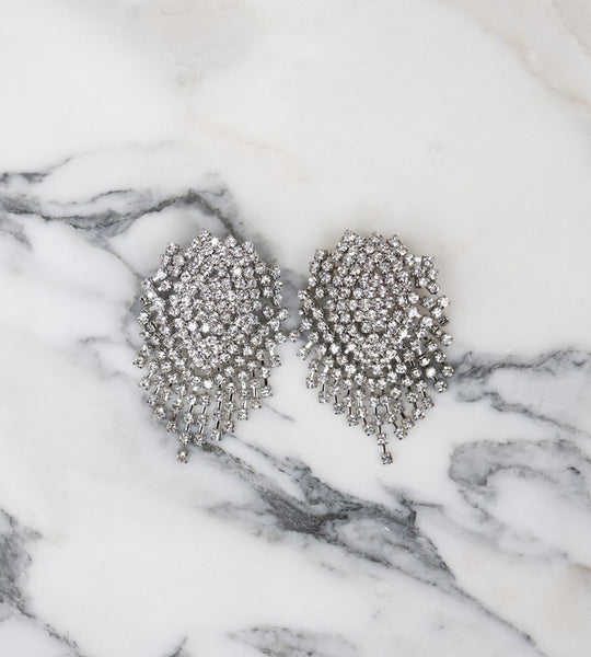 La Tribe Valentina Diamante Earrings Silver