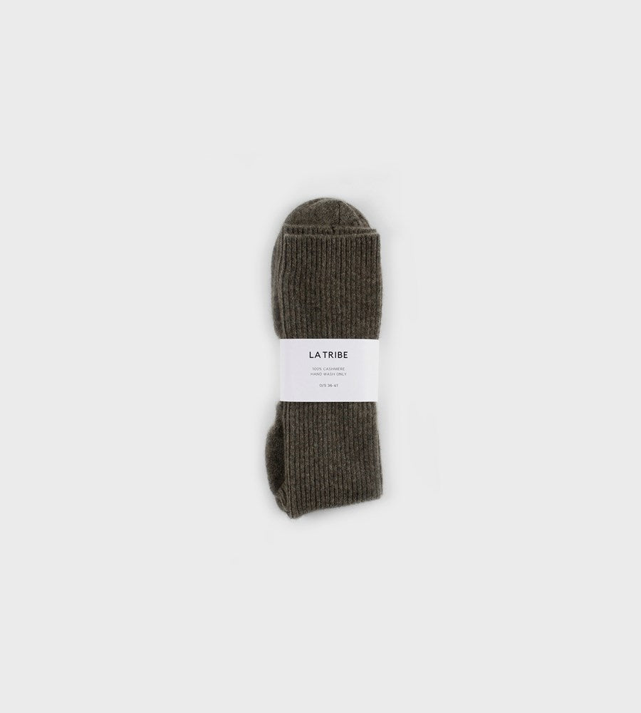 La Tribe | Cashmere Bed Sock | Chocolate
