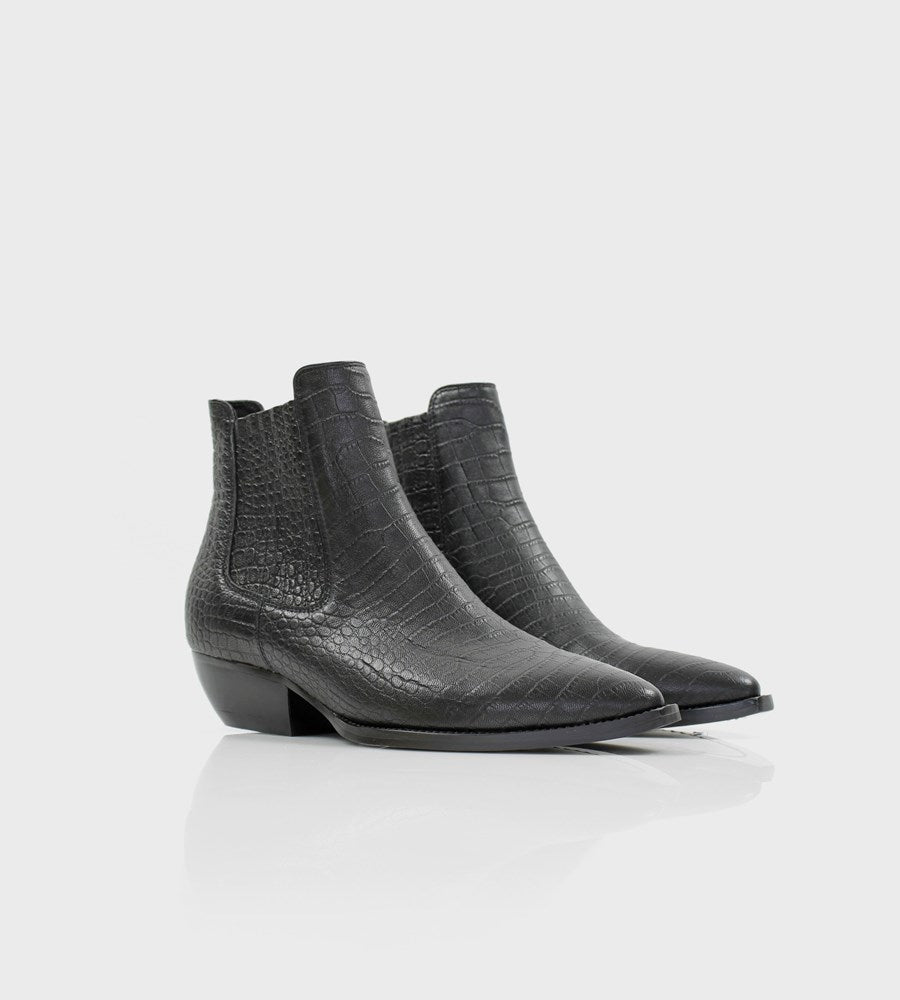 La Tribe | Dylan Boot | Crocodile Black
