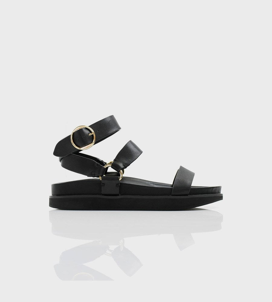 La Tribe | FR Exclusive | Platform Sandal | Black / Gold