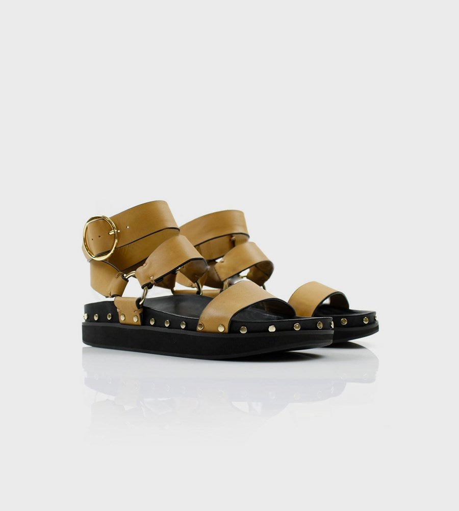 La Tribe | Studded Sandal | Light Tan