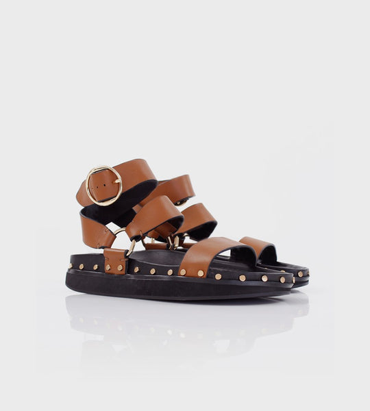 La Tribe | Studded Sandal | Tan