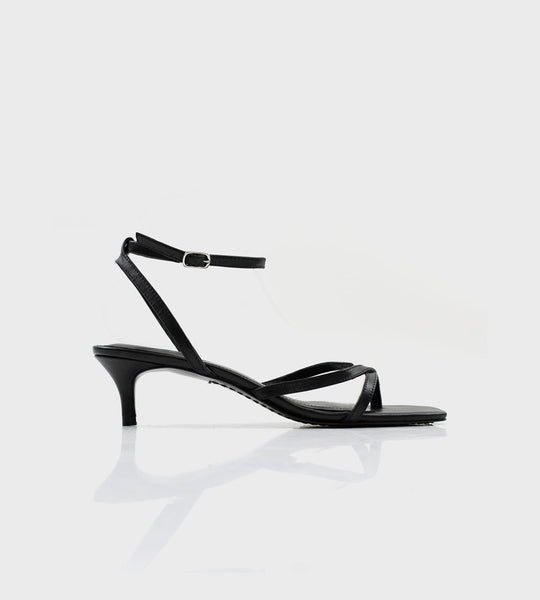 La Tribe | Thin Strap Heel | Black