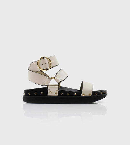 La Tribe | Studded Sandal | Bone