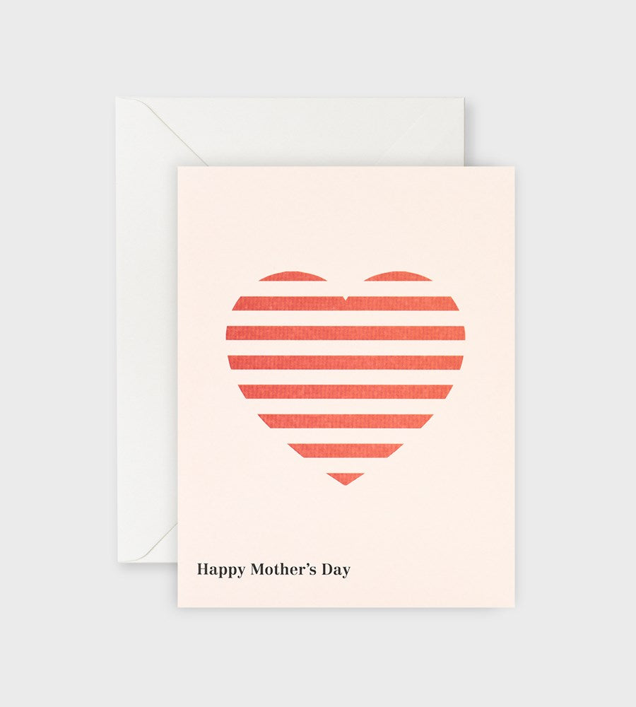 Lettuce | Card | Happy Mother's Day Red Stripe Heart