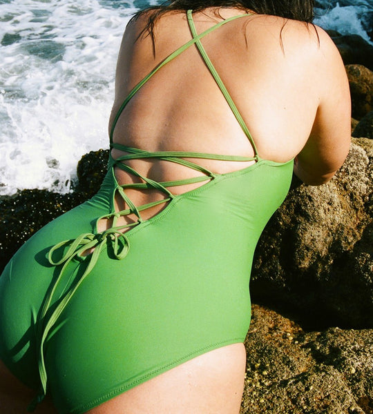 Lonely Swim | Dita Swimsuit | Apple Green