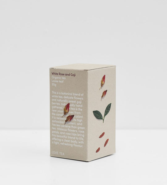 Love Tea | Loose Leaf 50g | White Rose & Goji