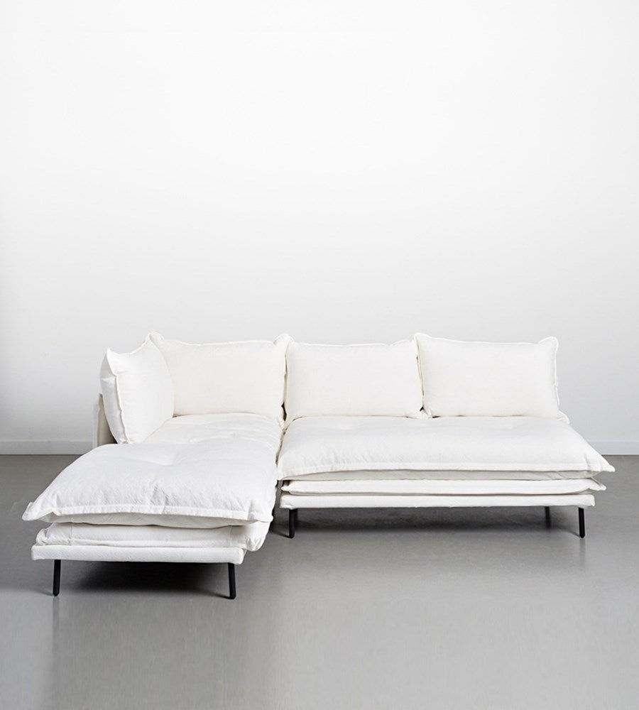 Lucas Sofa | Two Piece Modular | White