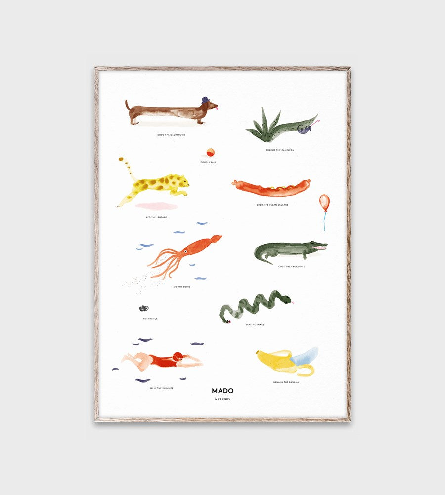 Mado | Friends | Mado & Friends | Unframed Print