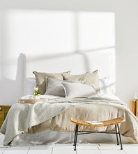 Marcus Linen Bedhead | White