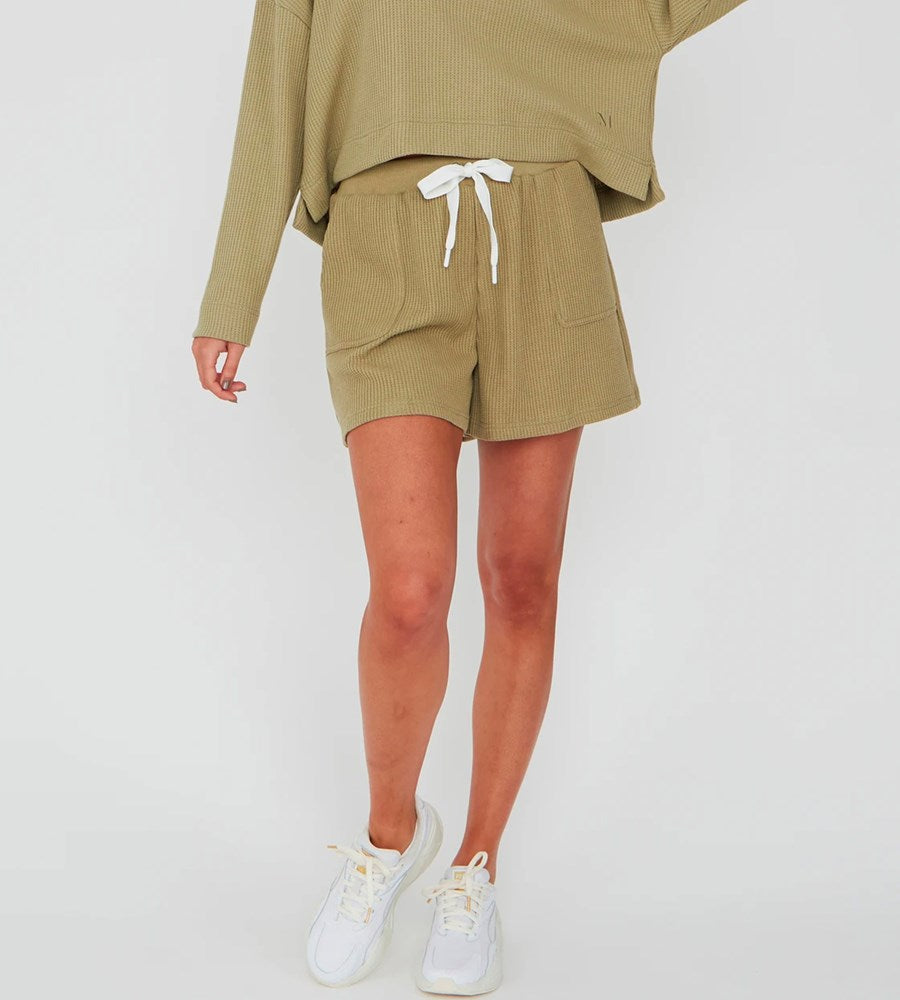 Marlow | Cocoon Waffle Short | Olive