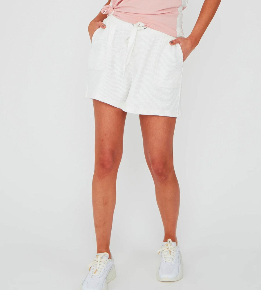 Marlow | Cocoon Waffle Short | White