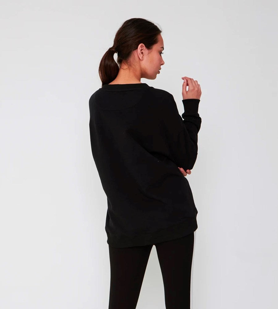 Marlow | Pocket Crew Sweat | Black