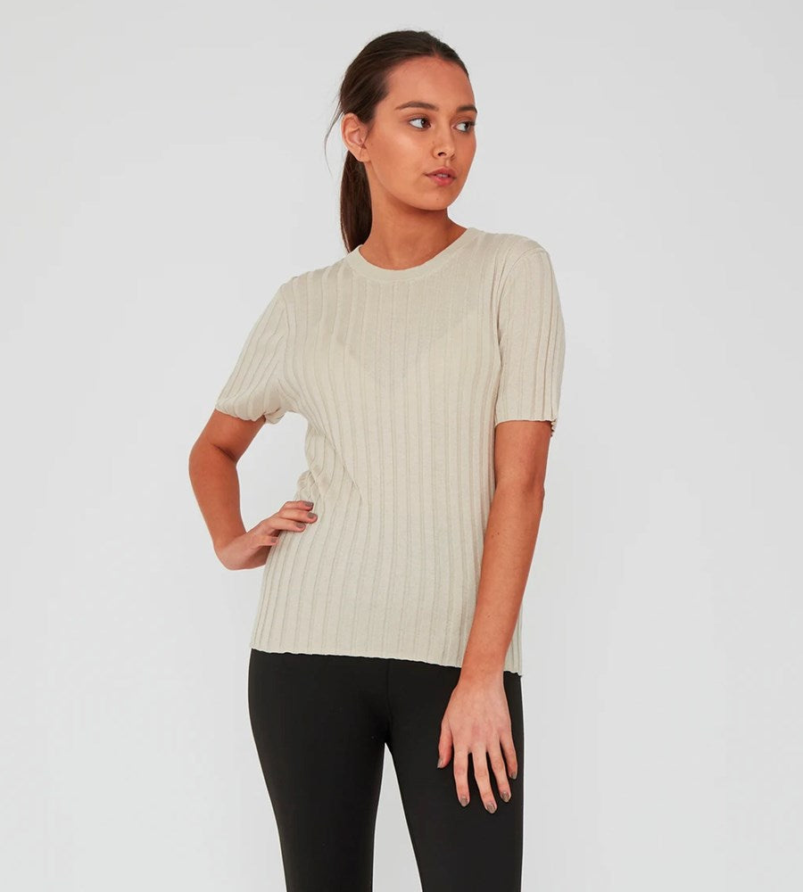 Marlow | Revolve Knit Tee | Natural